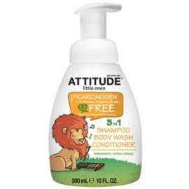 Sampon 3 in 1 Eco-Baby cu rodie Attitude