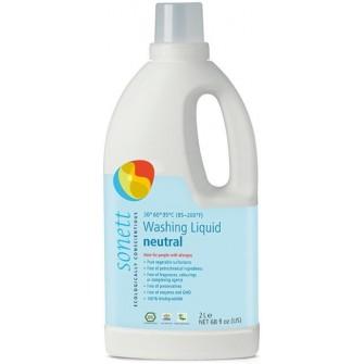 Detergent ecologic lichid pentru rufe albe si colorate neutru Sonett