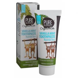 Pasta de dinti vanilie menta si xylitol, fara fluor pt copii, Pure Beginnings