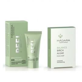 Set PEEL-AHA Mască pentru strălucire & săpun facial MÁDARA