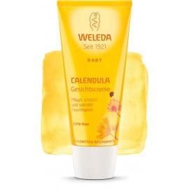 Crema hidratanta faciala cu galbenele WeledaBaby
