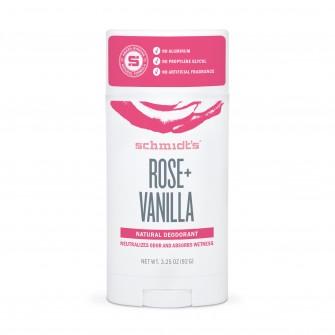 Deodorant stick trandafir si vanilie Schmidt's