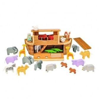 Arca lui Noe - Set gigant contine animale si figurine, EverEarth