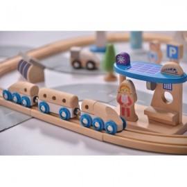 Tren in Orasul ecologic, Set 50 de piese, EverEarth