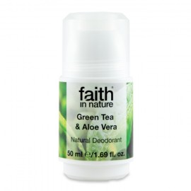 Deodorant roll on natural cu ceai verde si aloe vera