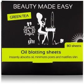 Foite matifiante pentru ten cu ceai verde Beauty Made Easy
