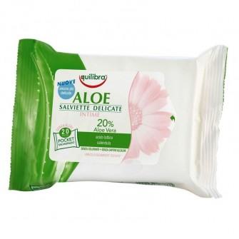 Servetele umede intime cu Aloe Equilibra