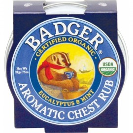 Mini balsam aromatic pt. desfundarea nasului si respiratie regulata, Chest Rub Badger 21 g