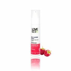 Gel lubrifiant intim, cu aroma de zmeura, Love Me Bio, 50 ml