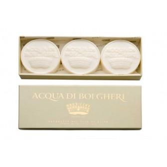 DR. TAFFI Set 3 sapunuri parfumate GOLD - ACQUA Di BOLGHERI