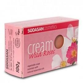 Sapun bio cream cu trandafiri Sodasan